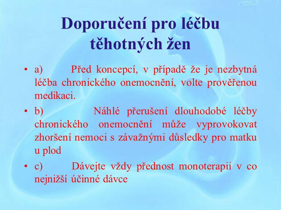 Doporučení pro léčbu těhotných žen