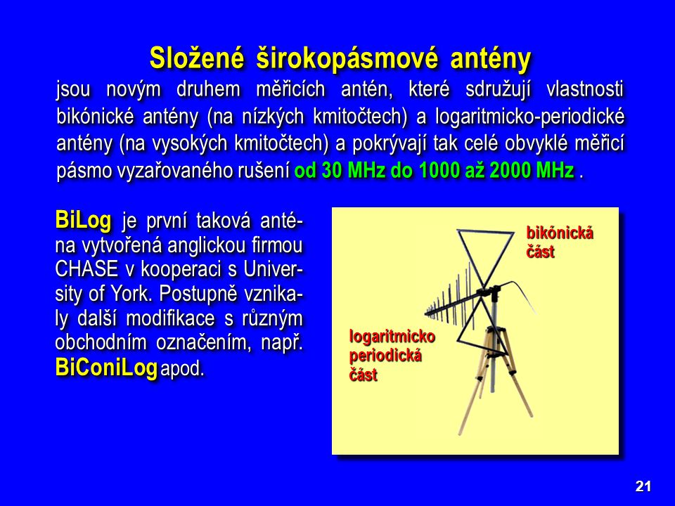 Složené širokopásmové antény