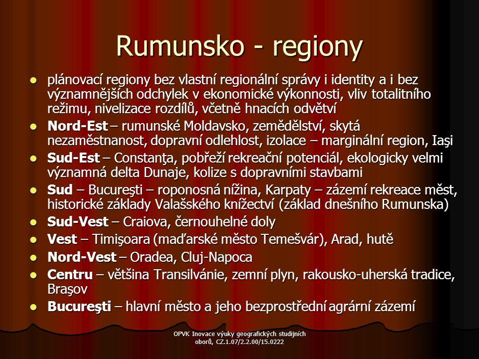 Rumunsko - regiony