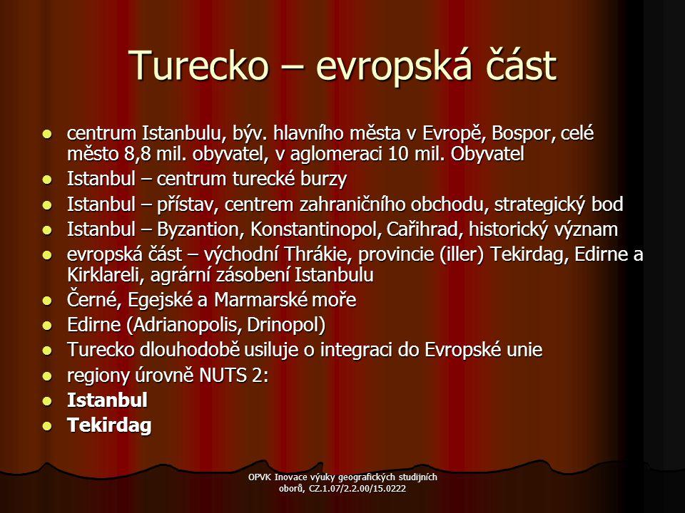Turecko – evropská část