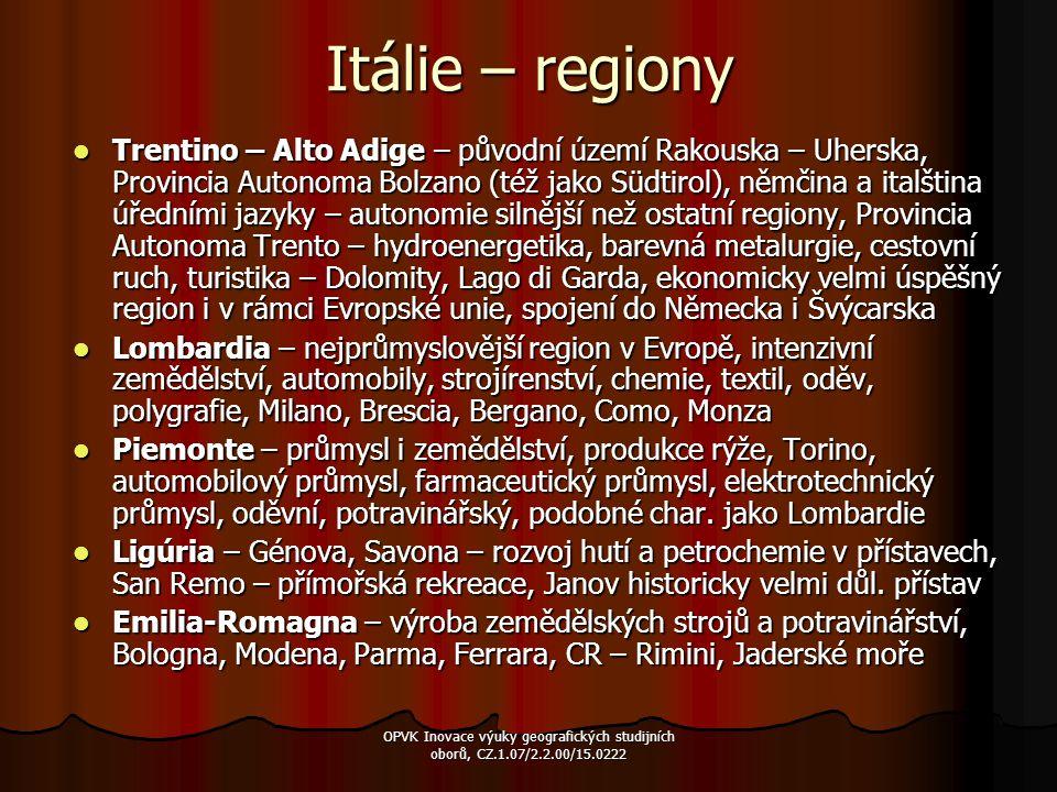 Itálie – regiony