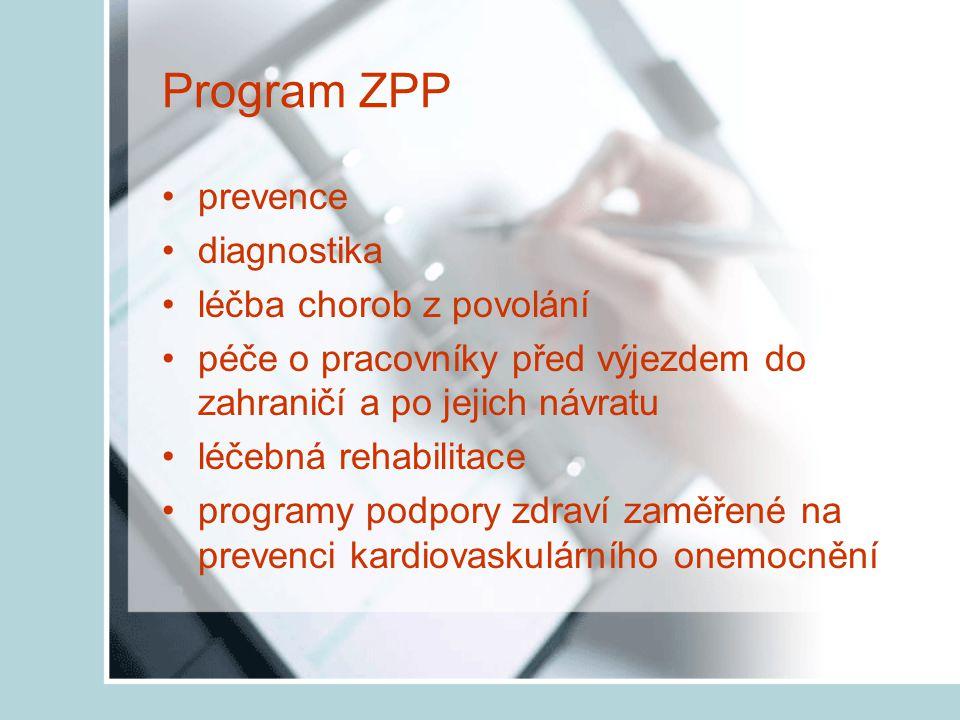 Program ZPP prevence diagnostika léčba chorob z povolání