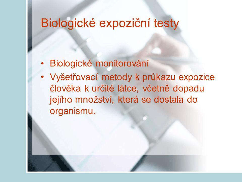 Biologické expoziční testy