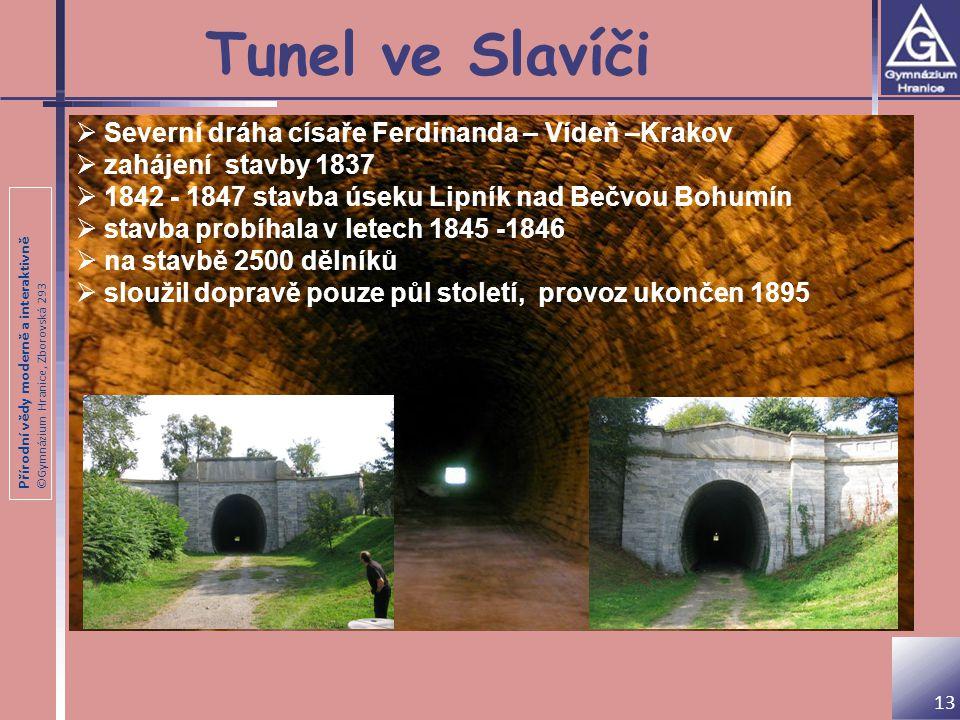 Tunel ve Slavíči Severní dráha císaře Ferdinanda – Vídeň –Krakov