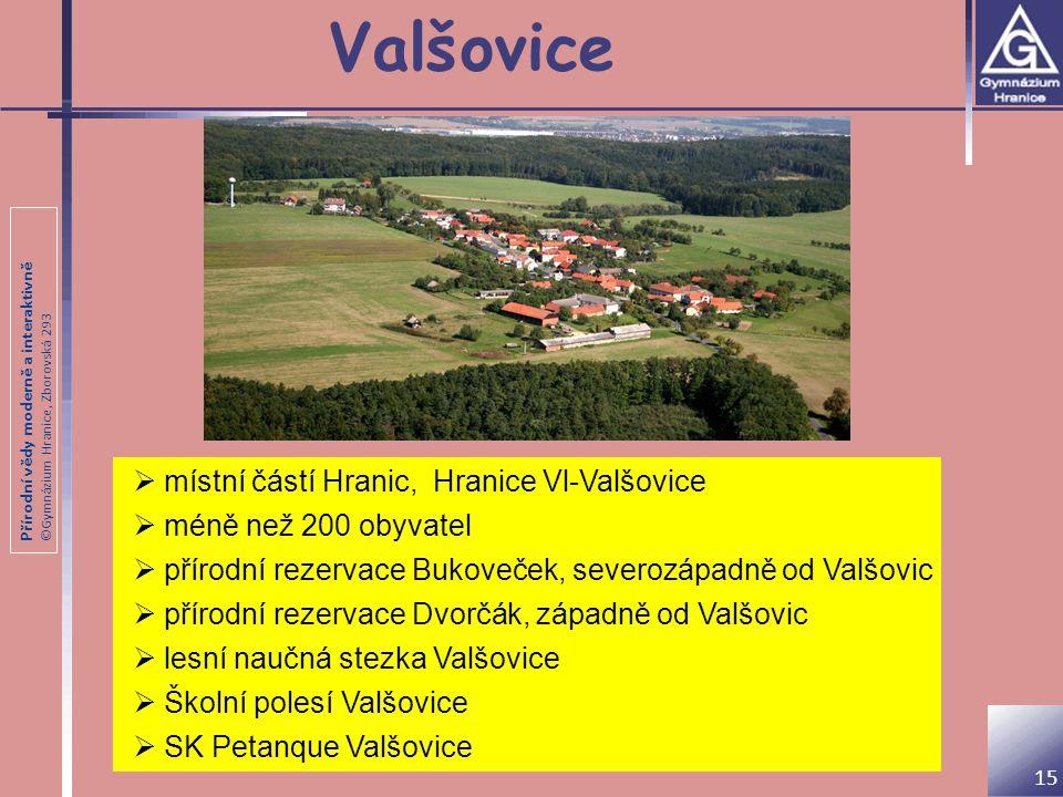 Valšovice místní částí Hranic, Hranice Vl-Valšovice