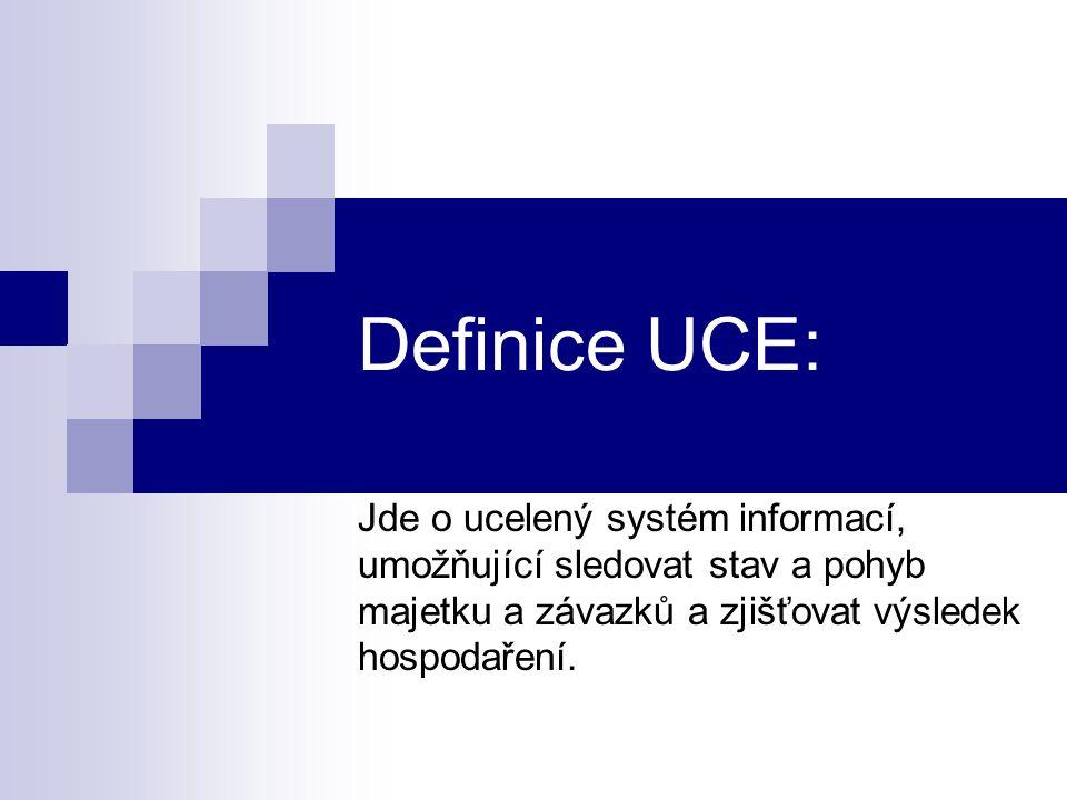 Definice UCE: Jde o ucelený systém informací,