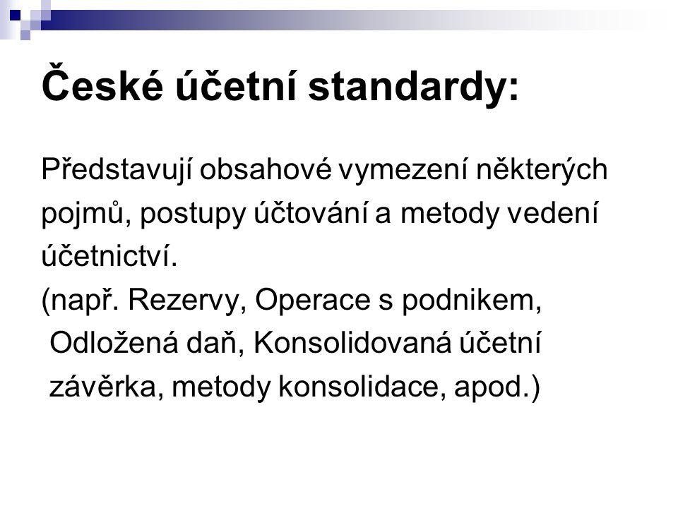 České účetní standardy: