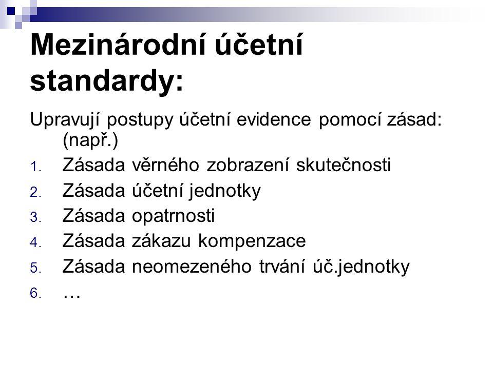 Mezinárodní účetní standardy: