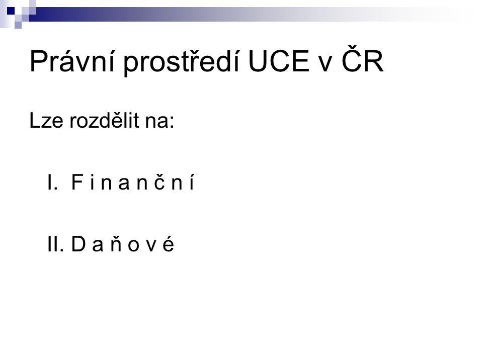 Právní prostředí UCE v ČR