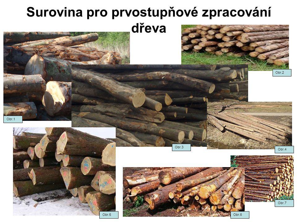 Surovina pro prvostupňové zpracování dřeva