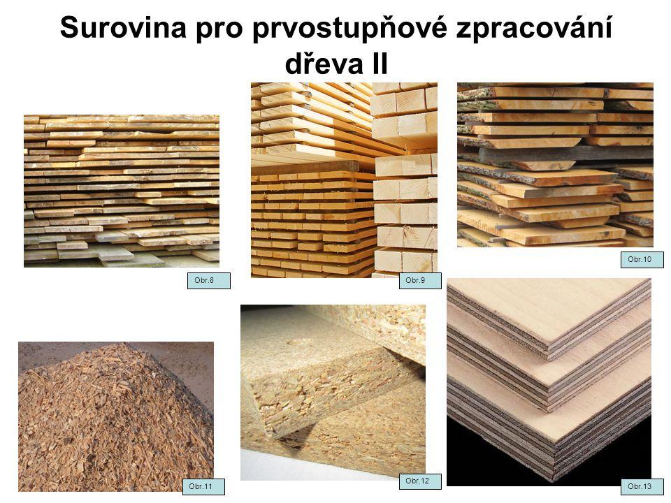 Surovina pro prvostupňové zpracování dřeva II