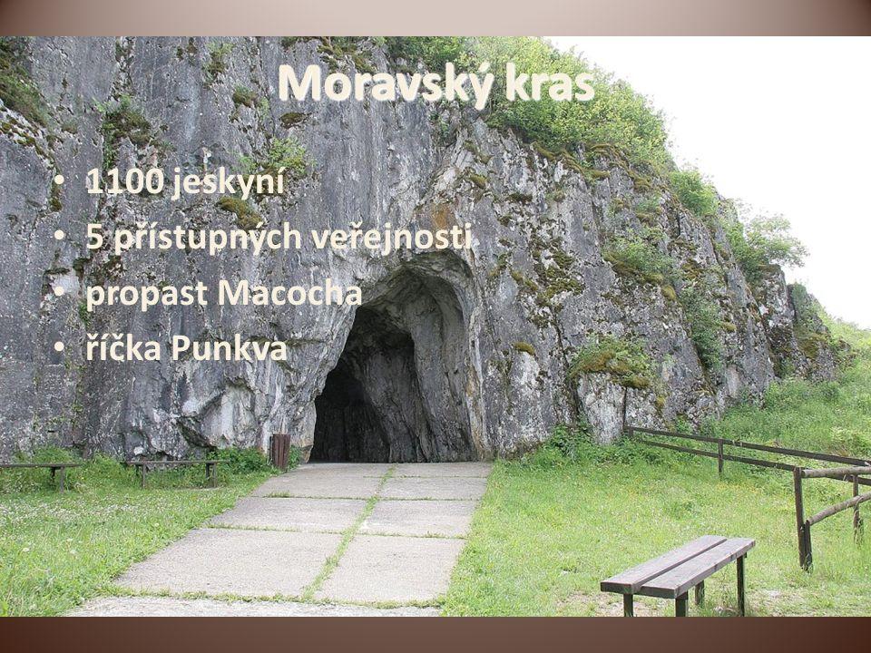 Moravský kras 1100 jeskyní 5 přístupných veřejnosti propast Macocha