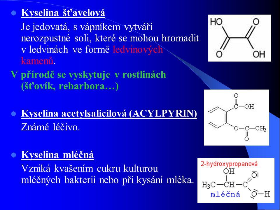 V přírodě se vyskytuje v rostlinách (šťovík, rebarbora…)