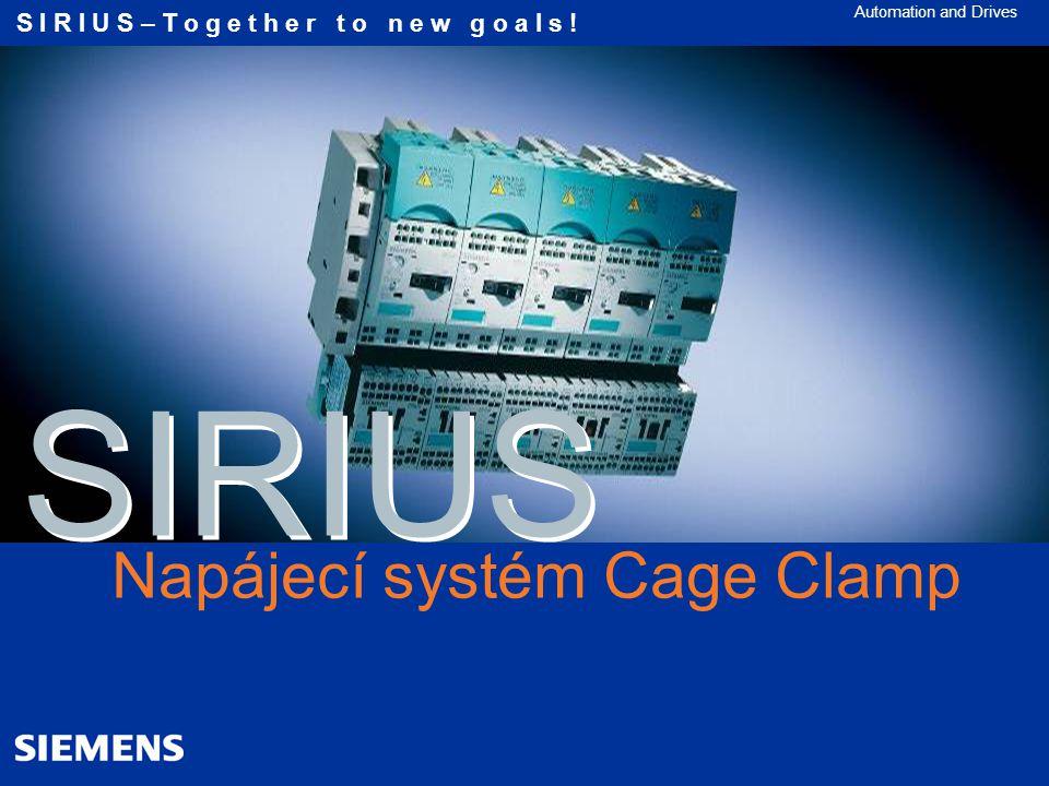 SIRIUS - spotřebičové vývody integrace funkční bezpečnosti
