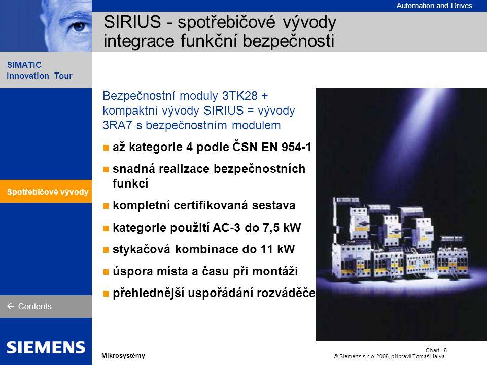 SIRIUS Softstartéry snižují mechanické a elektrické zatížení