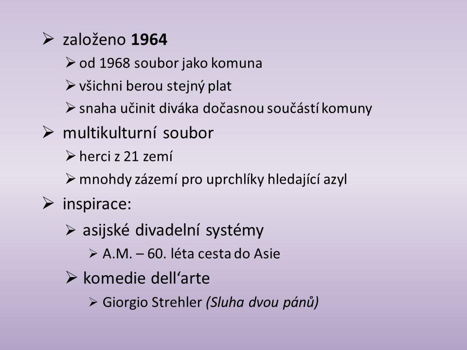 založeno 1964 multikulturní soubor inspirace: komedie dell'arte