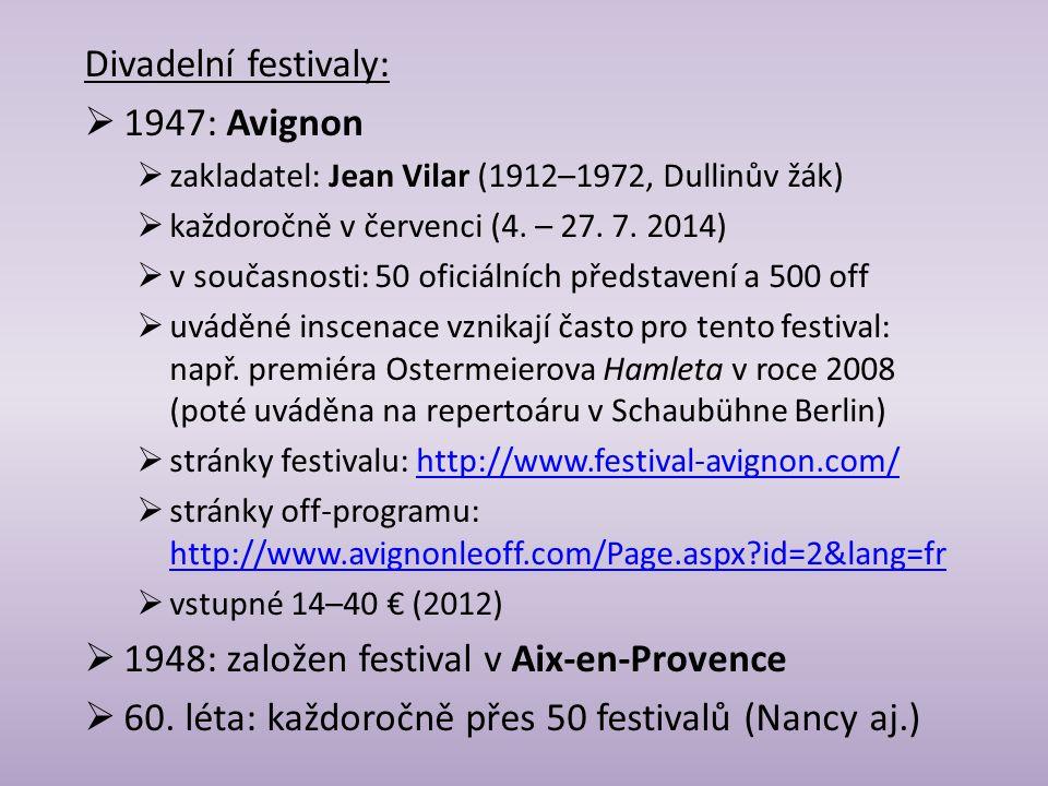 1948: založen festival v Aix-en-Provence