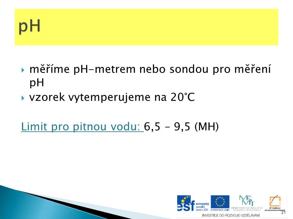 pH měříme pH-metrem nebo sondou pro měření pH