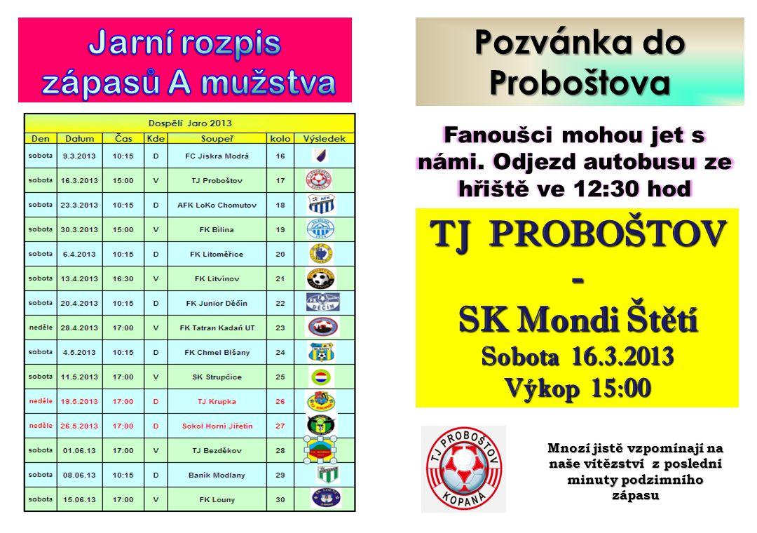 TJ PROBOŠTOV - SK Mondi Štětí
