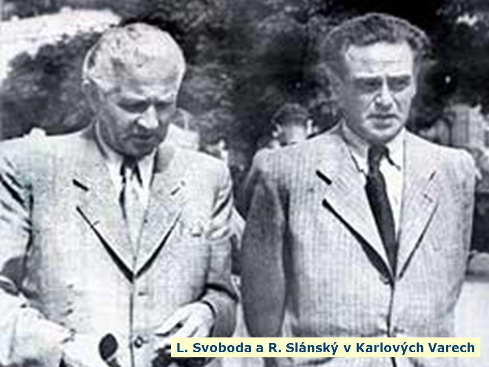 L. Svoboda a R. Slánský v Karlových Varech