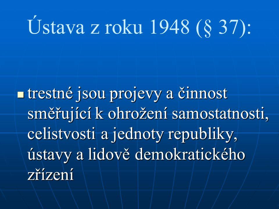 Ústava z roku 1948 (§ 37):