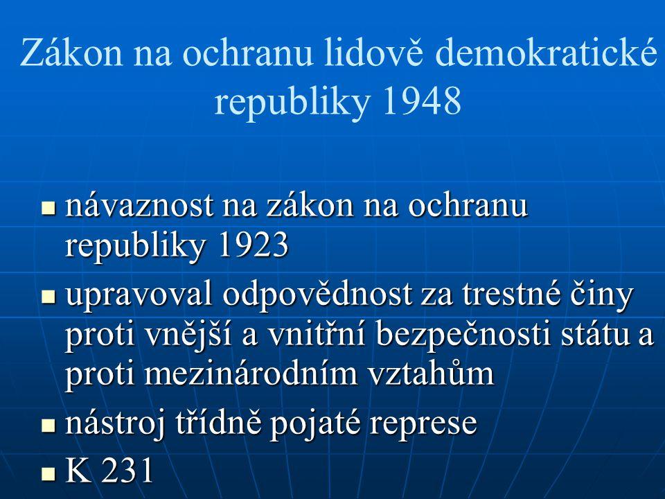 Zákon na ochranu lidově demokratické republiky 1948
