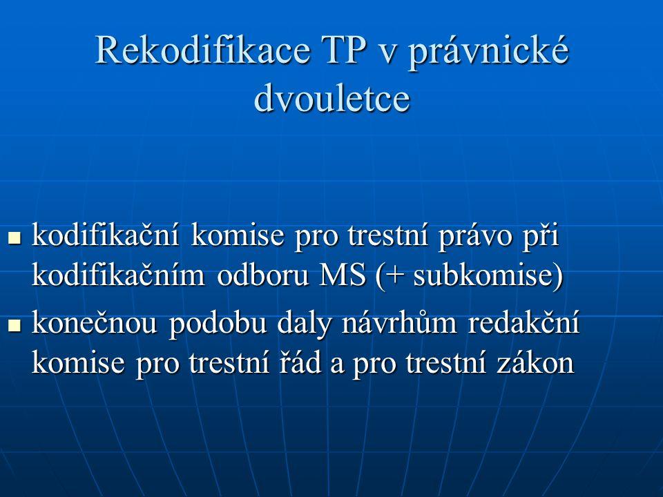 Rekodifikace TP v právnické dvouletce