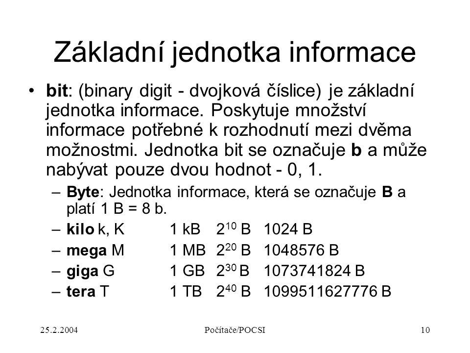 Základní jednotka informace