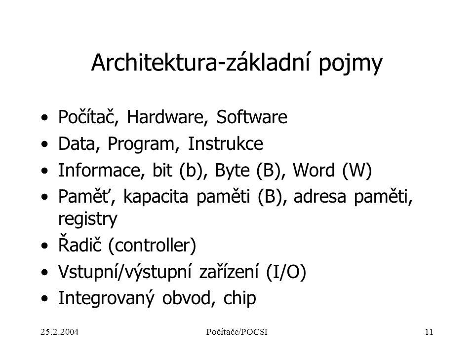 Architektura-základní pojmy