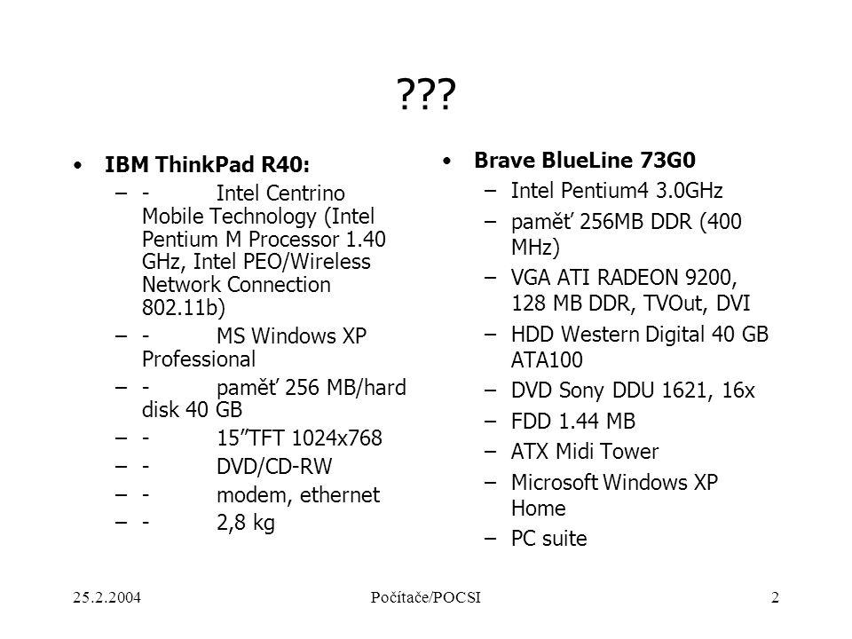 Brave BlueLine 73G0 IBM ThinkPad R40: Intel Pentium4 3.0GHz