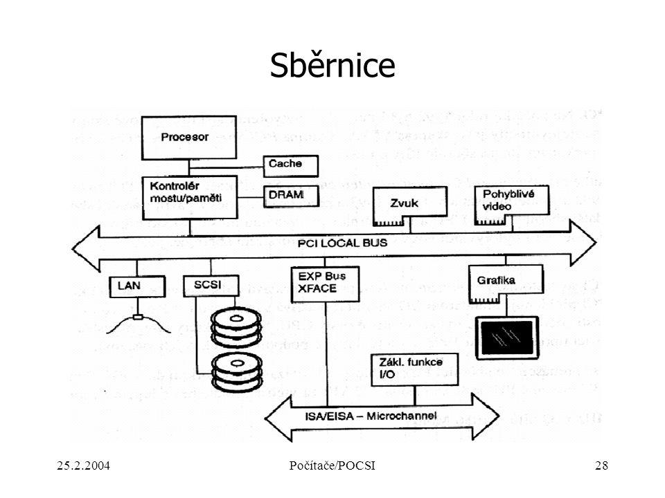 Sběrnice 25.2.2004 Počítače/POCSI
