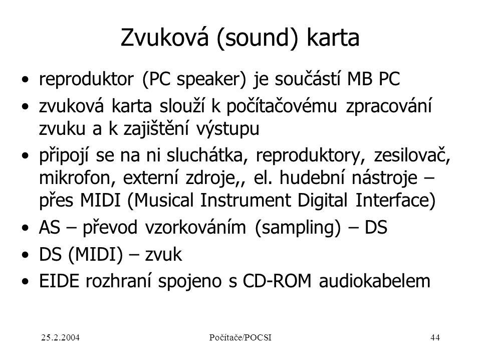 Zvuková (sound) karta reproduktor (PC speaker) je součástí MB PC