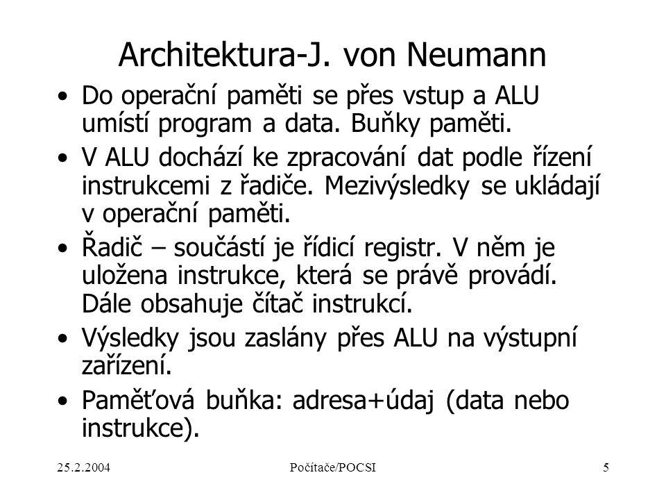 Architektura-J. von Neumann