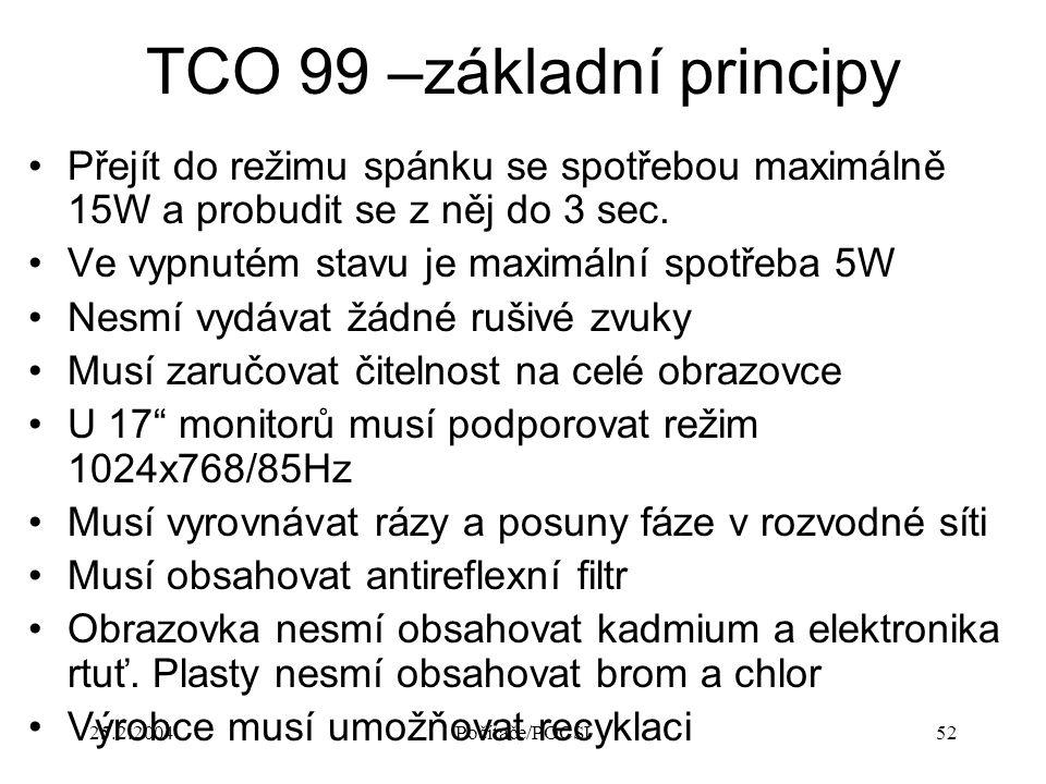 TCO 99 –základní principy