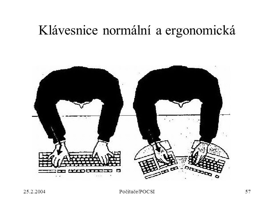 Klávesnice normální a ergonomická