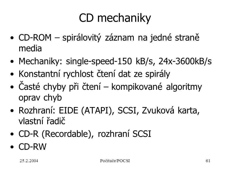 CD mechaniky CD-ROM – spirálovitý záznam na jedné straně media