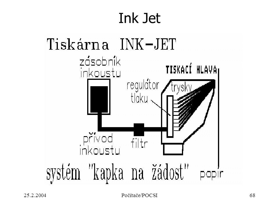 Ink Jet 25.2.2004 Počítače/POCSI