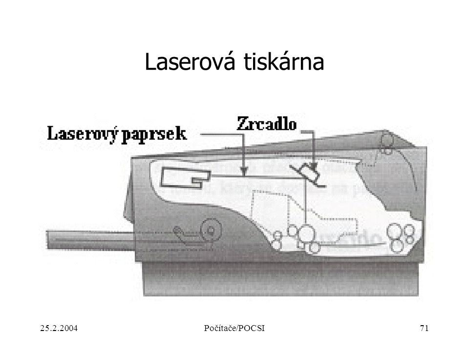 Laserová tiskárna 25.2.2004 Počítače/POCSI