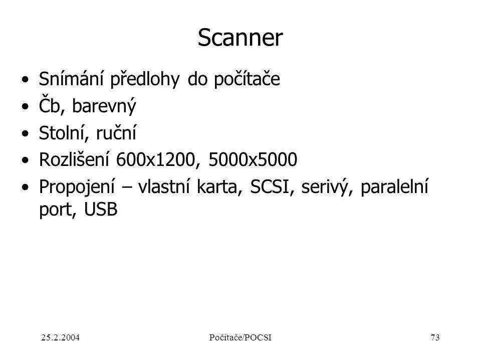 Scanner Snímání předlohy do počítače Čb, barevný Stolní, ruční
