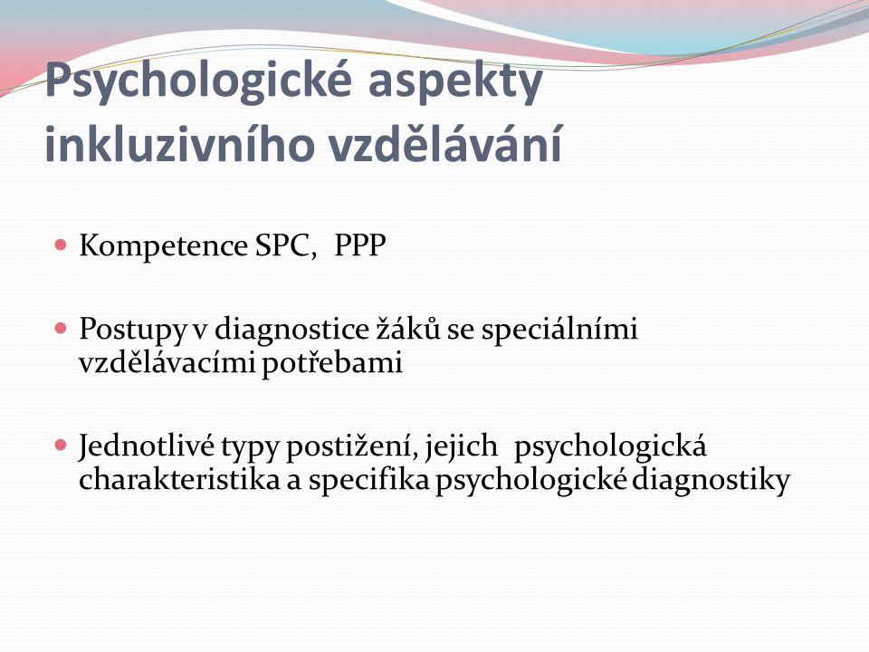 Psychologické aspekty inkluzivního vzdělávání