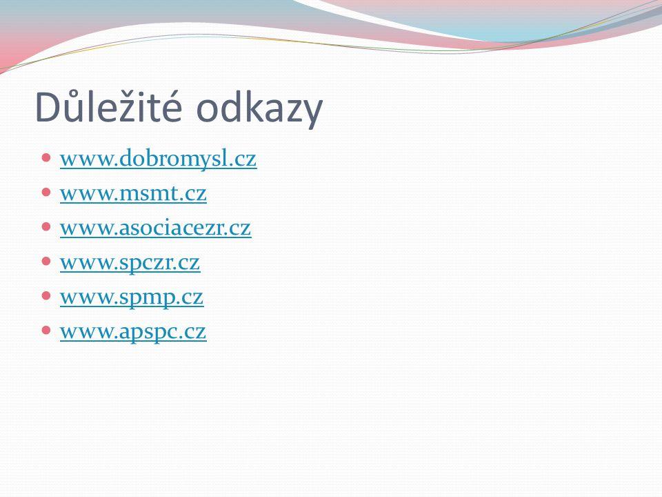 Důležité odkazy www.dobromysl.cz www.msmt.cz www.asociacezr.cz