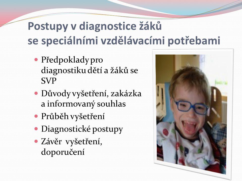 Postupy v diagnostice žáků se speciálními vzdělávacími potřebami