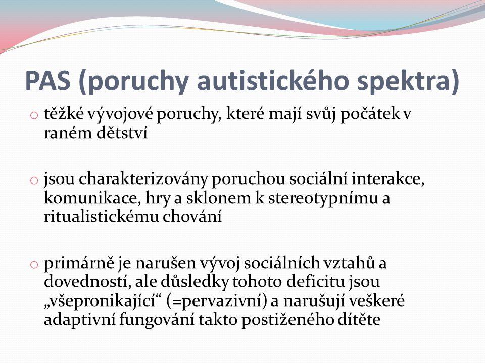 PAS (poruchy autistického spektra)