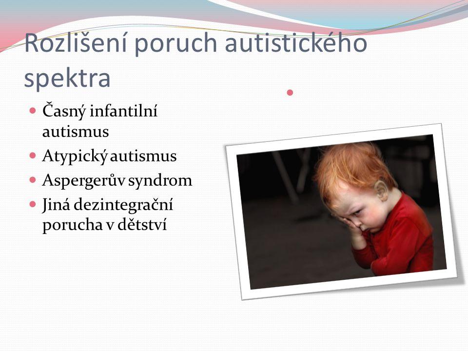 Rozlišení poruch autistického spektra