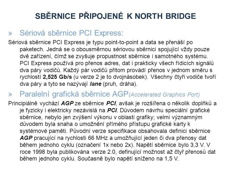 Sběrnice připojené k North Bridge