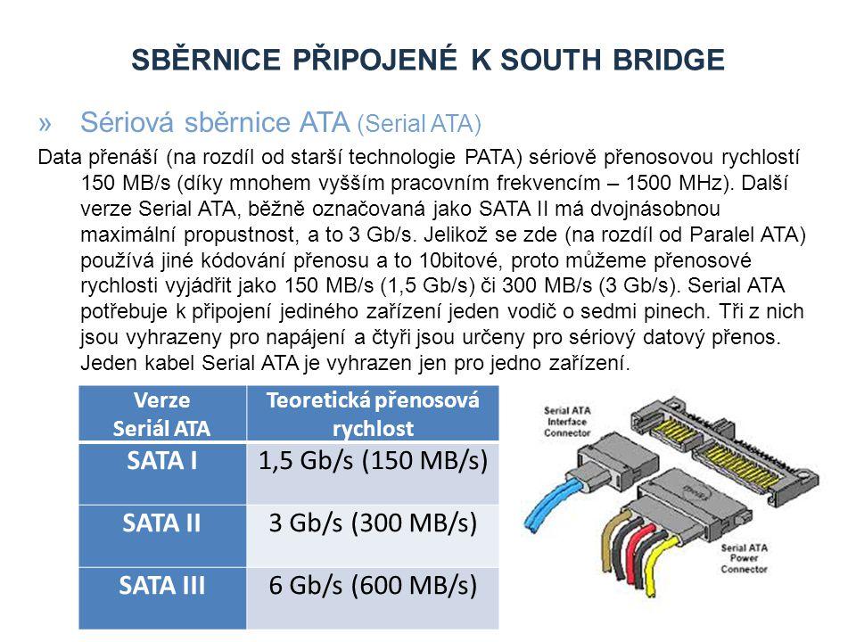 Sběrnice připojené k South bridge