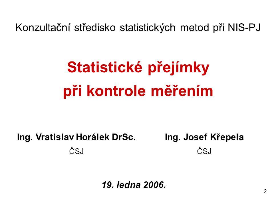 Ing. Vratislav Horálek DrSc.