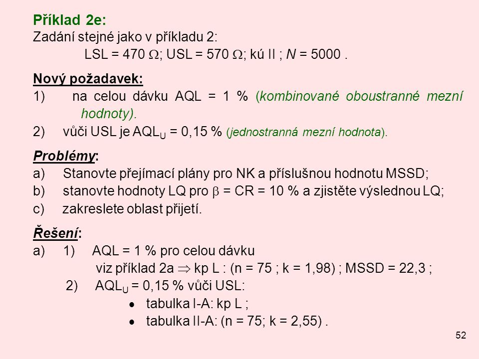 Příklad 2e: Zadání stejné jako v příkladu 2: