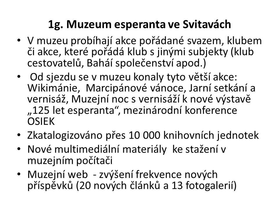 1g. Muzeum esperanta ve Svitavách