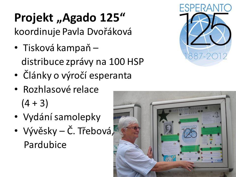 """Projekt """"Agado 125 koordinuje Pavla Dvořáková"""